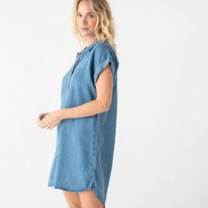 Thread & Supply Chambray Raw Hem Dress